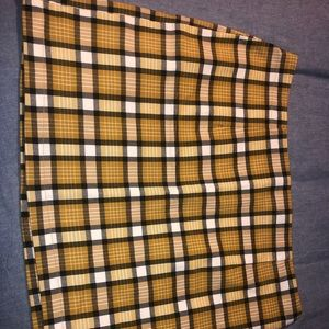 Yellow plaid Urban Outfitters skirt